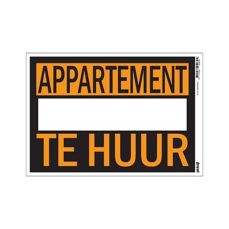 AFFICHES 230X330MM APPARTEMENT TE HUUR