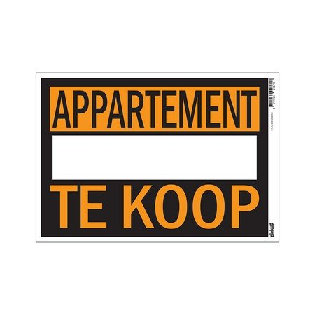 AFFICHES 230X330MM APPARTEMENT TE KOOP