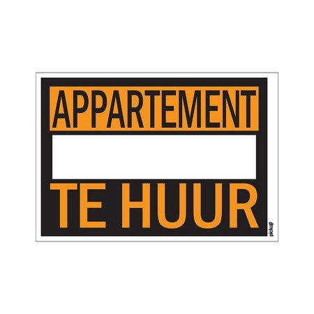 AFFICHES 250X350MM APPARTEMENT TE HUUR
