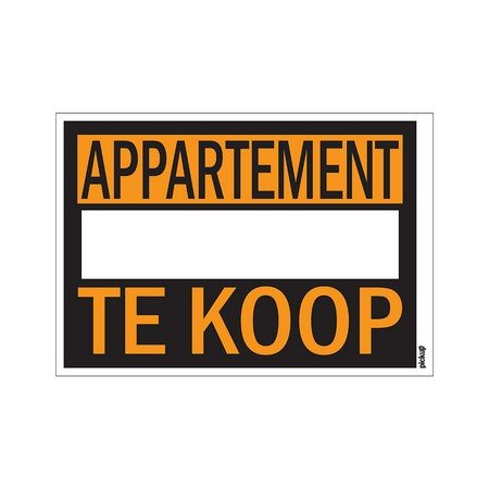 AFFICHES 250X350MM APPARTEMENT TE KOOP